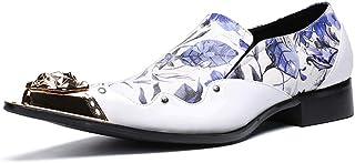 DEAR-JY Chaussures d'uniformes habillées Homme,Chaussures en Cuir Pointues,Chaussures d'affaires Formelles décontractées é...
