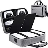 Ztotop for PS5 Travel Case, Compatible with Playstation 5 Console and PS5 Disk/Digital Edition, Carry Case for Playstation Controller, PS5 Games, Gaming Headset, Console Base and Accessories, Gray