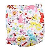 Calico Swim Pannolino Baby Infant Snap assorbente lavabile Costume da bagno Pannolino Riutilizzabile Swim Pannolino per neonati Toddlers Nuoto lezioni, One Size Fit All(BL010)