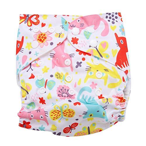 HelloCreate Pañal de natación reutilizable lavable de bolsillo de tela con gancho de bucle para sistema operativo, tamaño ajustable