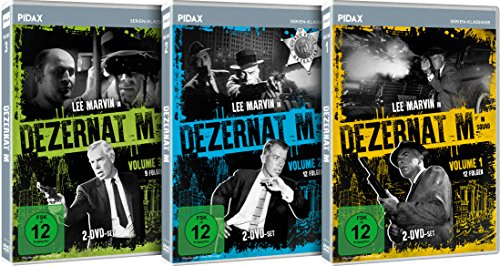 Dezernat M (M Squad) - Vol. 1-3 - Gesamtedition / 33 Folgen der Krimiserie auf 6 DVDs (Pidax Serien-Klassiker)