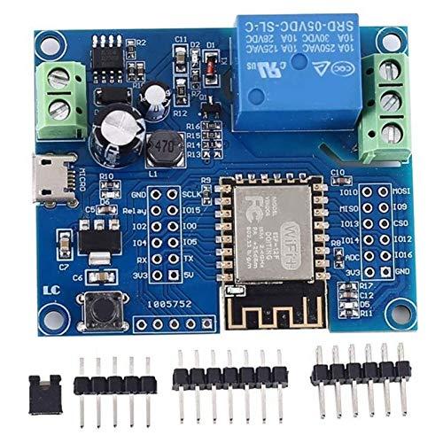 NKJH Elektronisches Modul WiFi Relay Controller-Modul, DC 5V 8V-80V ESP8266 Wireless Controller-Modul ESP-12F für IOT Smart Home App