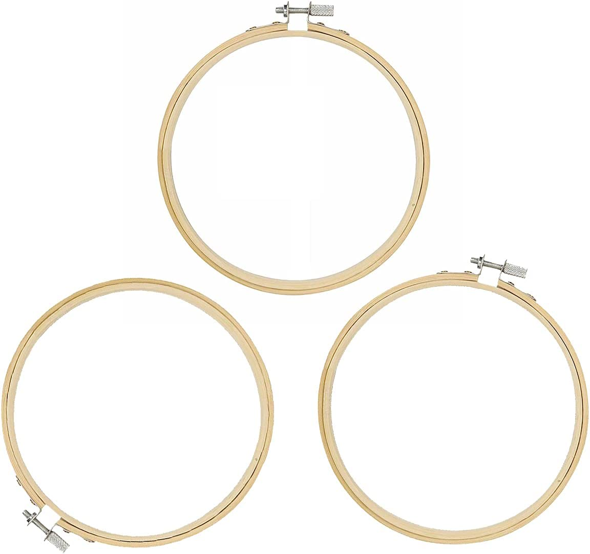 JANEMO discount 3 Pcs Wooden Round Durable Od Inches Hoops,4 Embroidery [Alternative dealer]
