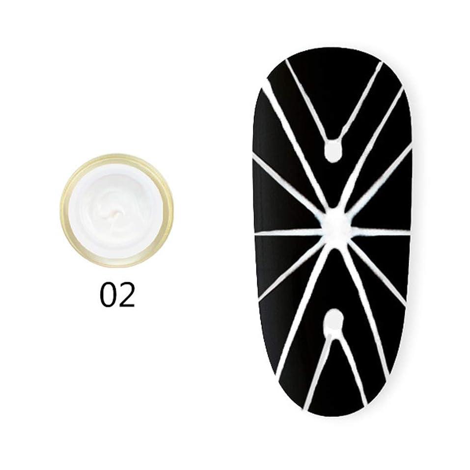 オープニング意味ピラミッドhamulekfae-弾性クモ画線ワイヤーペインティングジェルDIY UVネイルジェルポリッシュラッカー White