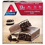 Atkins Ventaja comida, GALLETAS N' Crema bar, 5 bars, 51ml (50g) EACH