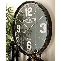 Deco 79 52128 Metal Wall Clock, 35