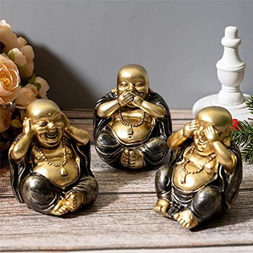 Juego de 3 figuras de Buda de SoPRETY con diseño de Buda,...