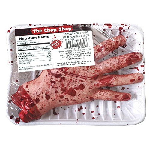 amscan International 673402 Chop Shop Fleisch Markt Hand Party Set