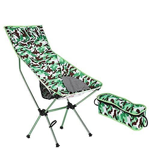 Silla De Camping Plegable Para Exteriores Silla De Jardín Portátil, Silla De Campamento Taburete De Senderismo Taburete De Asiento Para Mochileros,Green-Camp Chair