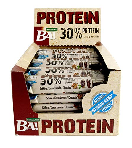 High Protein Coffee, Cocoa Kernels and Chocolate [25 bars] No sugar added - Rich in high Quality Ingredients with Creatine and Taurine - High whey protein great for after training