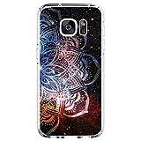 18eay - Carcasa transparente de silicona antigolpes para Samsung Galaxy S6 Edge G Talla única