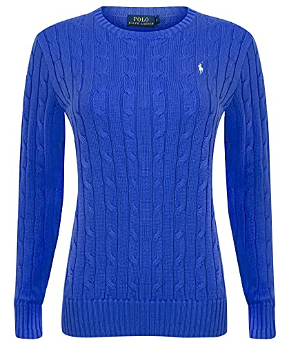 Polo Ralph Lauren Cable Knit V-Neck Pullover Kimberly Turquoise Blue