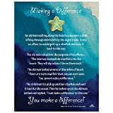 Starfish Poem Story Lapel Pin Token of Appreciation and Recognition Making A Difference (1) Seafoam Green