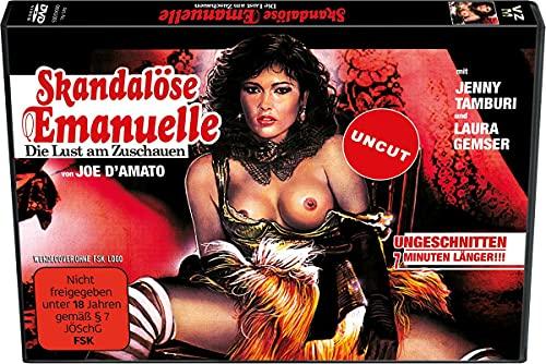 Skandalöse Emanuelle - (Cover quer) Die Lust am zuschauen (Laura Gemser) - Das erotische Meisterwerk von Joe D'Amato (Uncut)