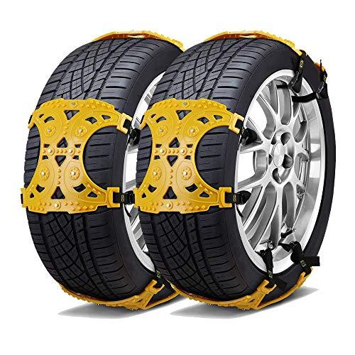HLDUYIN SUV Auto Schneeketten Für Lkws Pkws Schneereifenketten Für SUV Anti Rutsch Reifenkette Verstellbare Schneereifenketten Mergency Car Chains