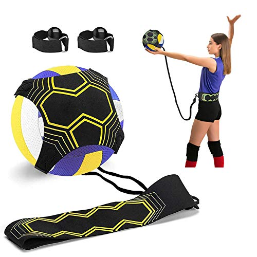 Volleyball Training Equipment Aid, Solo Soccer Trainer, Solo Practice Trainer for Serving, Setting, Spiking and Arm Swing, Returns Ball After Every Swing for Beginners & Pro