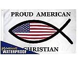 Proud American Christian Waterproof Flag Religious Banner Jesus Church 3x5