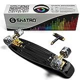Skatro – Mini-Cruiser, Kunststoff-Board im Retro-Stil - 3