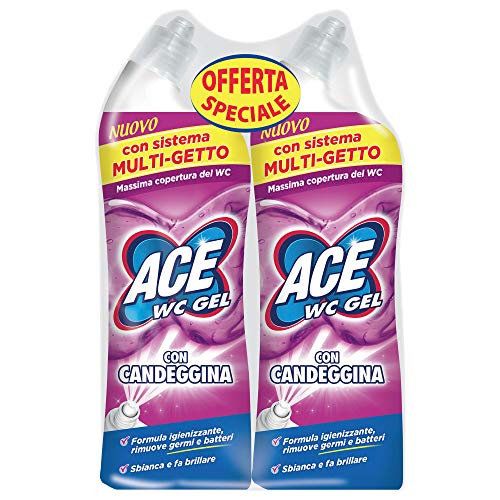 ACE Wc Gel con Candeggina Bipacco, 2 x 700 ml
