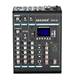 Neewer Stereo Mixer 5 Channel Compact Mini Mixing Console Echo DSP Effects, LCD...
