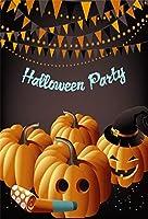Qinunipoto 背景布 ハロウィン happy halloween 背景幕 写真の背景 写真撮影用 暗い背景 かぼちゃ 撮影道具 撮影用 コウモリ 人物撮影 自宅 写真館 写真背景 万聖節カボチャ cosplay背景 ビニール 1.8x2.5m