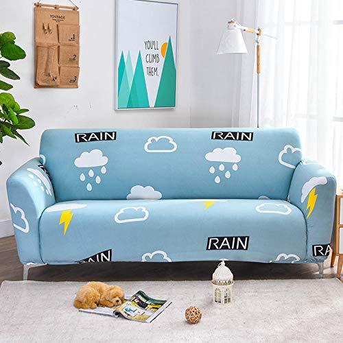 Topashe Cubre Sofa Universal Tejido de Poliéster,Funda de sofá elástica, Funda de sofá Todo Incluido-O_235-300cm,Poliéster y Spandex Funda Sofa