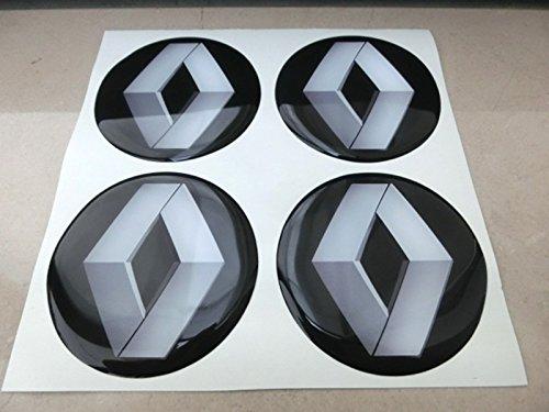 GTB Tuning - 4 adhesivos resinados con efecto 3D, 3M de 50mm, color negro, para llantas de aleación y tapacubos