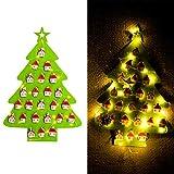 Saihua Weihnachtskalender Anhänger Weihnachtsbaum beleuchtet Filz Kalender mit Haus Form Anhänger Weihnachten Kalender Dekoration grün