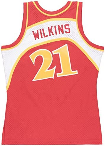 Mitchell & Ness Dominique Wilkins Atlanta Hawks NBA Throwback Jersey - Red