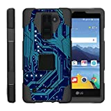 TurtleArmor | Compatible with LG K8V Case | LG K8 V Case | VS500 [Dynamic Shell] Hybrid Dual Layer Hard Shell Cover Kickstand Silicone Case - Phone Circuit Board