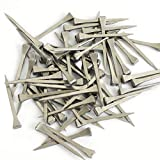 FidgetGear 100 Pcs 51mm 2' Stainless Steel Horseshoe Nails Stained Glass