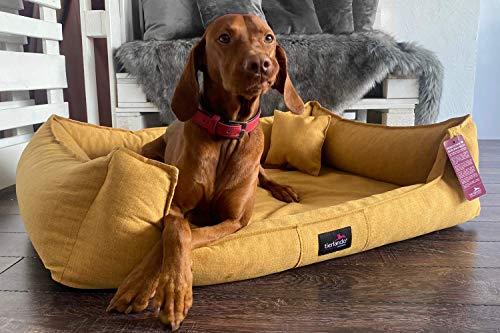 tierlando® Scarlett Orthopädisches Hundebett aus edlem Stoff | Modern und Elegant | ~...