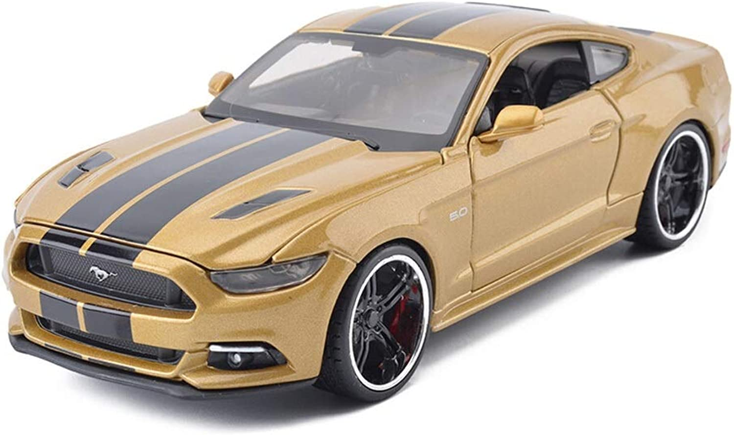 Model car Ford Mustang GT1  24 Simulation Alloy Car Model Toy Car Model Static Model Collection Gift Decoration Decoration ( color   Yellow )