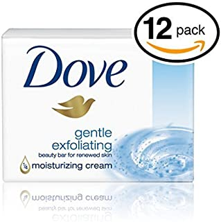Dove Gentle Exfoliating Beauty Cream Bar Soap 3.5 Oz / 100 Gr (Pack of 12 Bars)