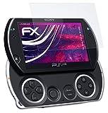 atFoliX Glasfolie kompatibel mit Sony PSP Go N1000 Panzerfolie, 9H Hybrid-Glass FX Schutzpanzer Folie