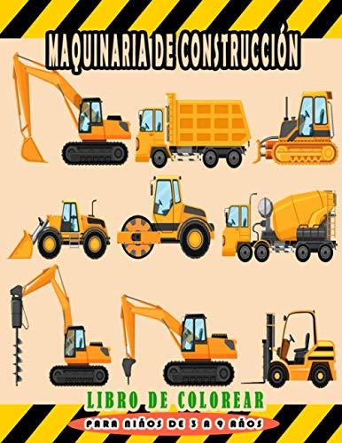 Maquinaria de construcción Libro de colorear para niños de 3 a 9...