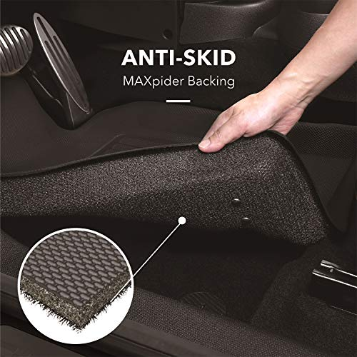 3D MAXpider Carpet Floor Mats for Lexus LX/Toyota Land Cruiser 2012-2020 Custom Fit Car Floor Liners, Classic Series (1st Row, Black) (L1LX04412209)