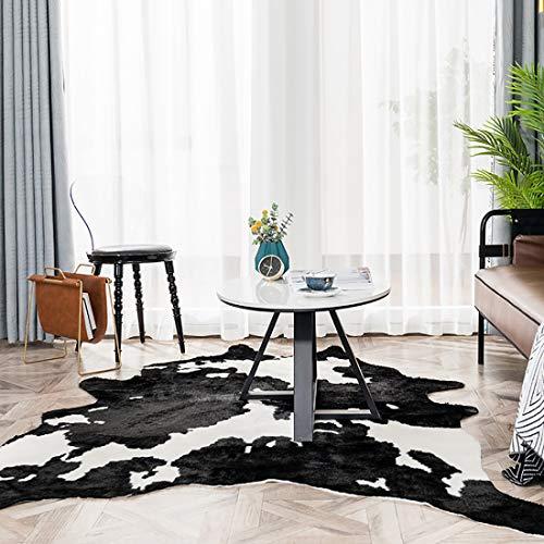 WAZMM Tapis imprimé Vache , Tapis imprimé Animal Tapis Faux Tapis pour Chambre à Coucher, salon78×105cm/31×41inch