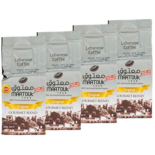 Maatouk - Arabischer Mokka Kaffee gemahlen im 4er Set á 200 g Packung
