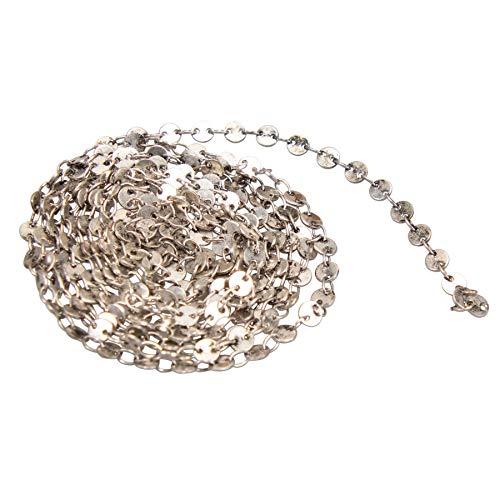 Alpenflüstern Dirndl-Miederkette Linda 150 cm - dekorative Trachtenkette fürs Mieder, Trachtenkette für Anhänger, Damen-Trachtenschmuck, Dirndlkette antik-Silber-Farben DCH043