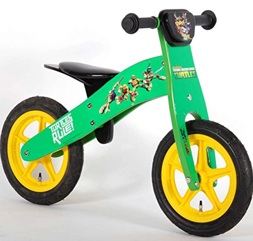 Bicicleta del bebé tortugas Ninja Turtles sin pedales de madera de 12 pulgadas 3 4 5 6 años verdes