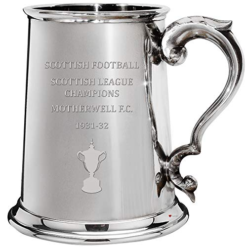 Motherwell F.C. Scottish League Division One Titles 1pt Pewter Tankard