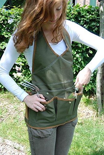 Esschert Design Damenschürze, Gartenschürze mit Taschen, ca. 68 cm x 1 cm x 64 cm - 2