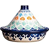 XUYONGZ Olla de Cocina marroquí Tagine, cerámica, Vajilla sin llama abierta, Horno microondas doméstico, sin esmaltar libre de materiales tóxicos, Quema en seco sin agrietarse Electrico