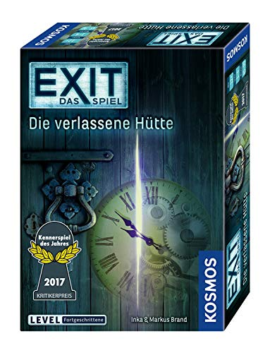 KOSMOS 692681 - EXIT - het spel - het verlaten hutte, kenmerspel van het jaar 2017, niveau: gevorderden, Escape Room Speel, Zwart