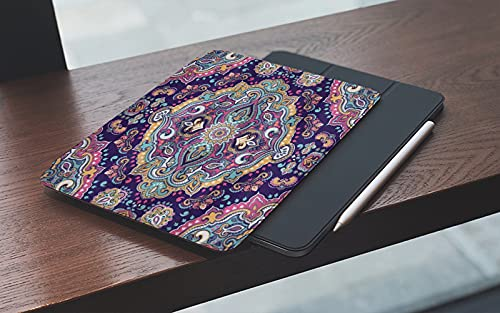 MEMETARO Funda para iPad 10.2 Pulgadas,2019/2020 Modelo, 7ª / 8ª generación,Mandala Étnico Estilo Boho Colorido Jardín Primavera Mosaico Antiguo Smart Leather Stand Cover with Auto Wake/Sleep