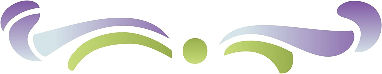 Scroll Accent Schablone – wiederverwendbar Schablonen für Malerei – Beste Qualität Wall Art Décor Ideen – Verwendung auf Wände, Böden, Stoffe, Glas, Holz, Terracotta, und mehr... Größe S B00YDV78JS |