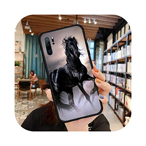 Fine Horse Art Phone Case for Huawei Honor Mate P 9 10 20 30 40 Pro 10i 7 8 A X Lite Nova 5t-A10-Huawei P30 Lite
