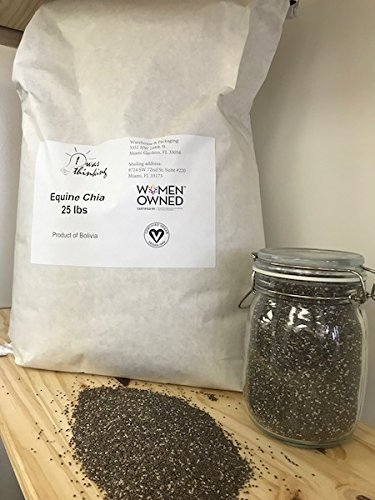 Equine Chia Natural, Seeds, Supplements, 25 Pounds, 25 Lbs, Black (25 lbs)