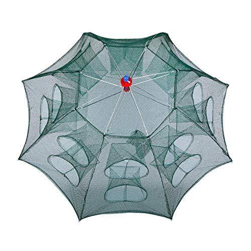 Huaxingda Fortalecido 6/10/16 agujeros red de pesca automática plegable cangrejo trampa de...